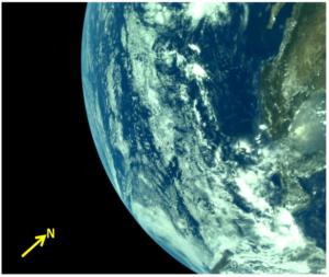 image captured by vikram lander 1